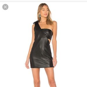 Endless rose black leather dress from Revolve. NBW